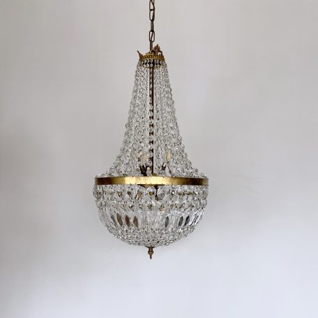 Early 1900s French Tent and Bag Balloon Chandelier