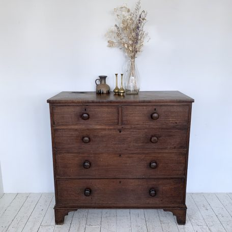 Large Veneered Chest of Drawers