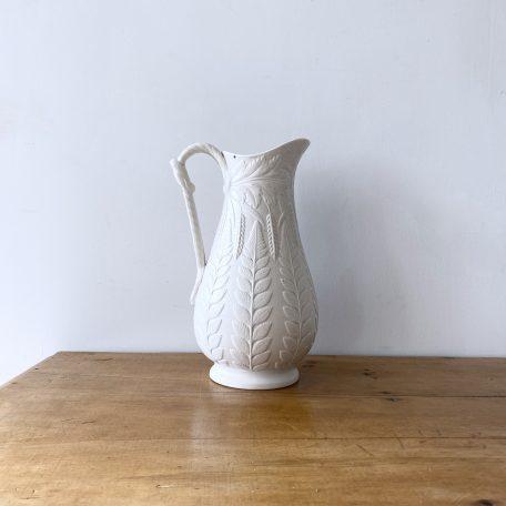 Ivory Parian Wheatsheaf Pattern Staffordshire Porcelain Jug