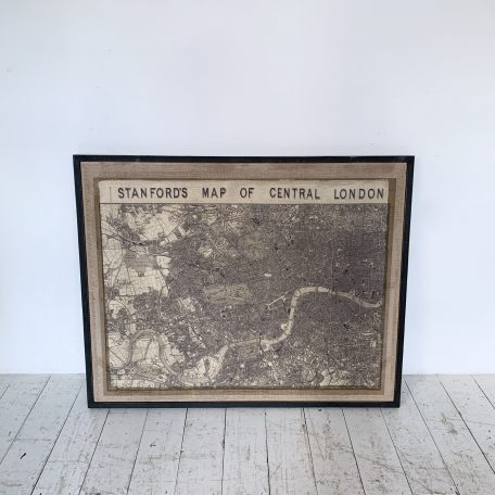 Vintage Framed Standford's Map of Central London