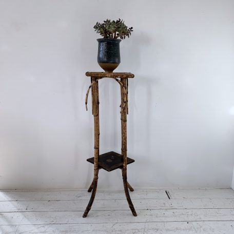 Vintage Tiger Bamboo Plant Stand