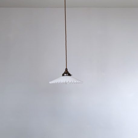 White Glass Handkerchief Shade