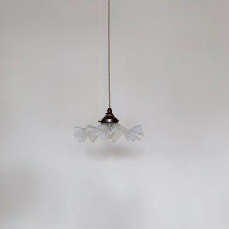 French Vaseline Glass Handkerchief Frill Shade