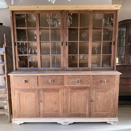 Large English Farmhouse Glazed Dresser