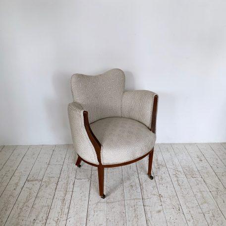 1930s French Mahogany Tub Chair