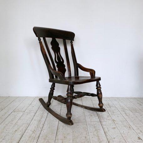 20th Century English Oak Rocking Chair