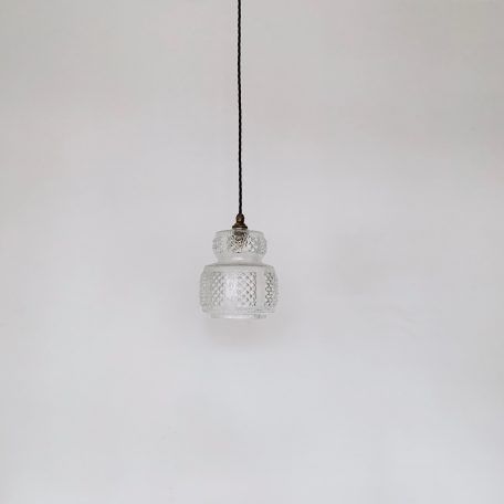 French Clear Textured Glass Shade