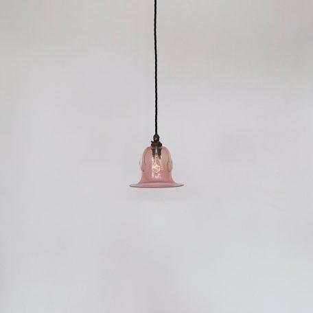 James Powell Pink Vaseline Glass Shade