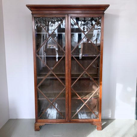 Large Victorian Glazed Mahogany Cabinet