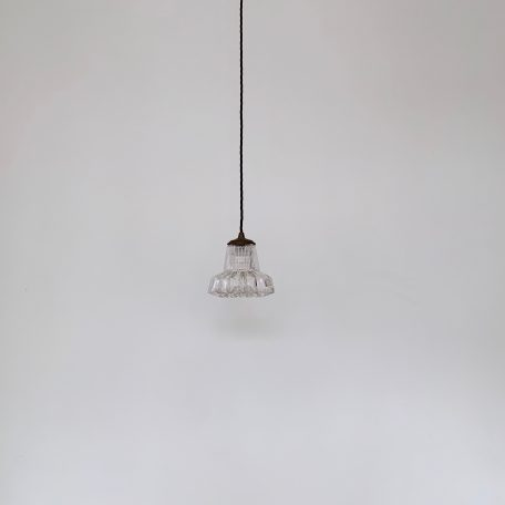 Small French Enclosed Clear Faceted Shade