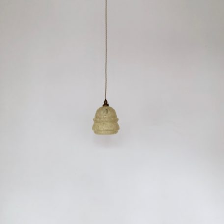 Small Yellow Mottled Clichy Glass Shade