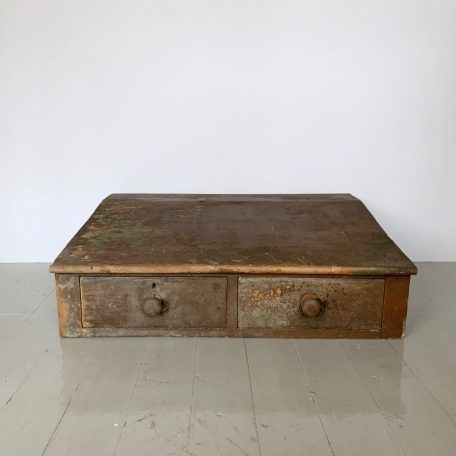 Victorian Wooden Writing Slope with Two Drawers