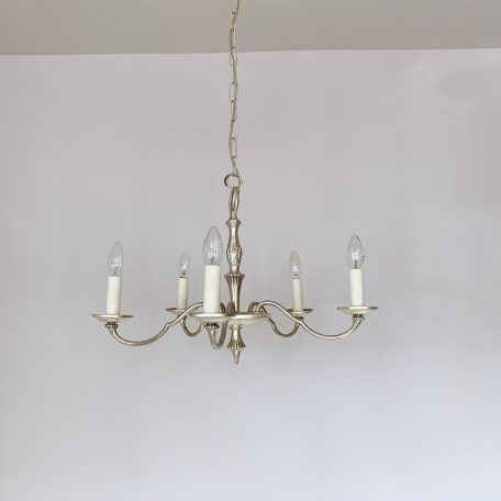 20th Century Silver Nickel Chandelier