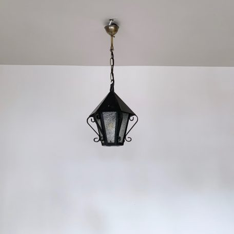 French Lantern with Textured Glass