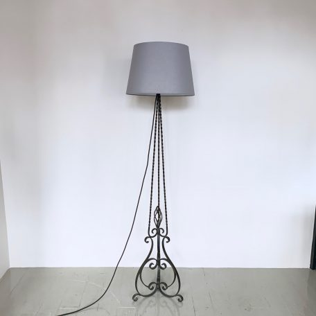French Wrought Iron Floor Lamp