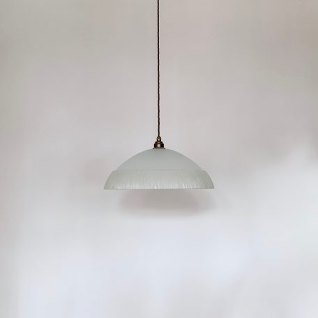 Large French Frosted Glass Shade