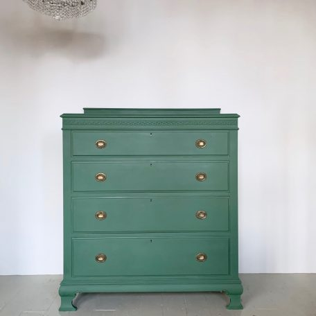 Large Green Painted Chest of Drawers