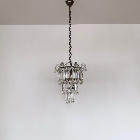 Small Three Tier Crystal Waterfall Chandelier