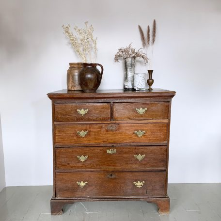 Georgian Chest of Drawers with Original Brass Handles