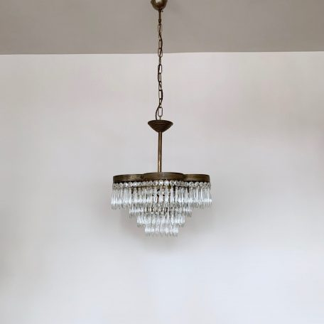Small French Petal Frame Waterfall Chandelier