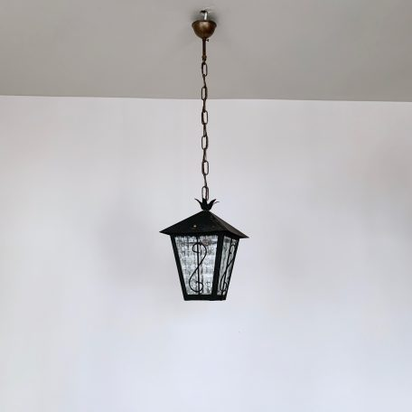 Decorative French Lantern with Textured Glass