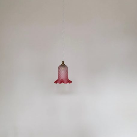 Edwardian Cranberry Frosted Shade