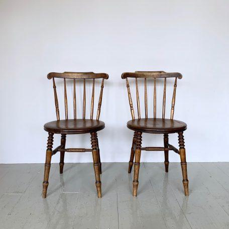Edwardian Swedish Ibex Solid Beech Penny Chairs