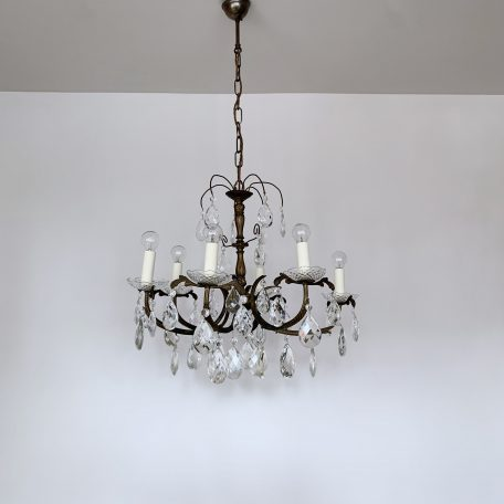 french-brass-chandelier-with-harlequin-glass-pear-drops