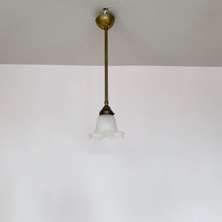 Frosted Frill Shade Pendant
