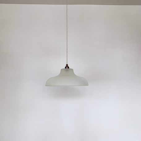 Frosted Ribbed Glass Shade