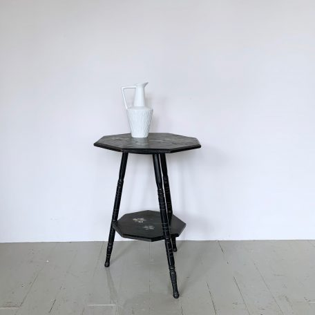 Hand Painted Floral Octagonal Occasional Table