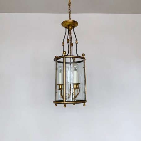 Large French Cylindrical Brass Lantern