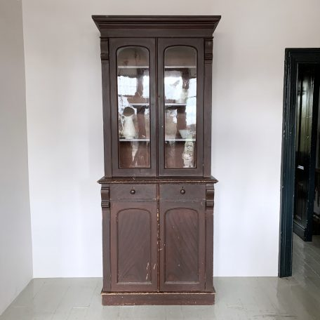 Large Vintage Solid Wood Glazed Dresser