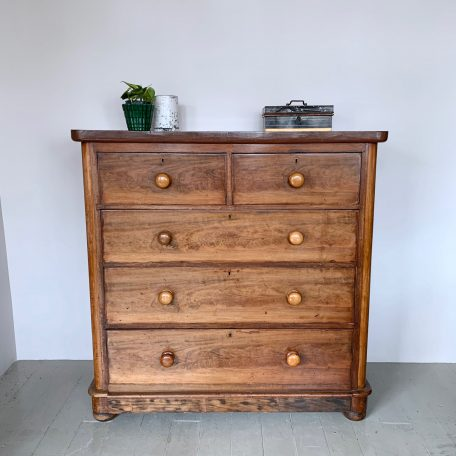 Large Wooden Veneered Chest of Drawers