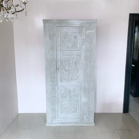 Late 19th Century French Hand Carved Oak Armoire