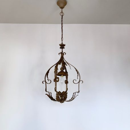 Ornate Wrought Iron Pendant