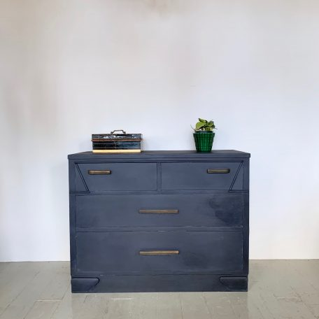 Painted Chest of Drawers with Deco Brass Handles