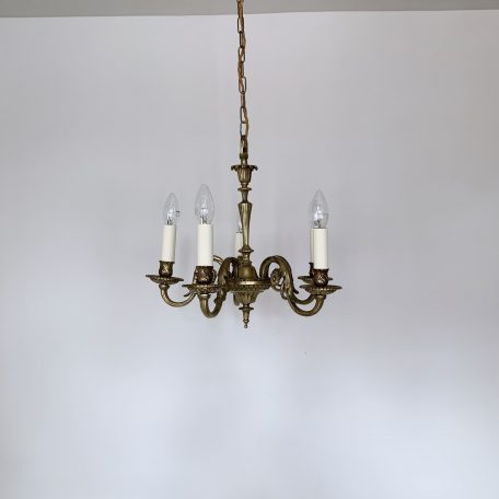 Small French Cast Brass Chandelier