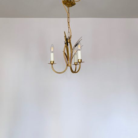 Small French Gilt Toleware Chandelier