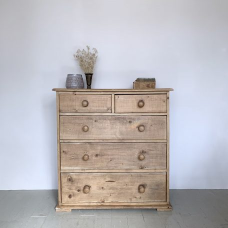 Waxed Pine Chest of Drawers