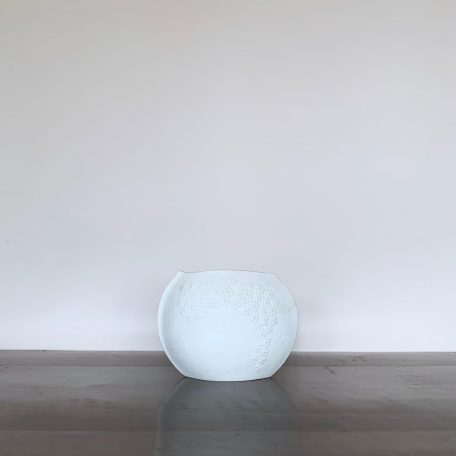 White German Porcelain Floral Pottery Vase