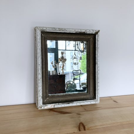 Antique Painted Textured Frame Mirror