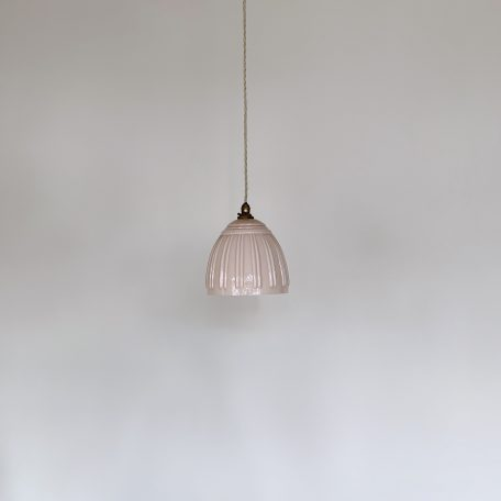 French Pink Polished Glass Shade
