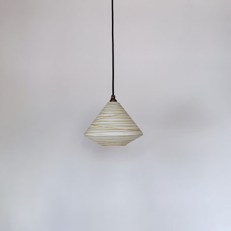 1960s French Yellow Glass Shade