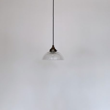 Clear Moulded Glass Shade