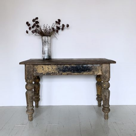 Distressed Solid Wood Side Table