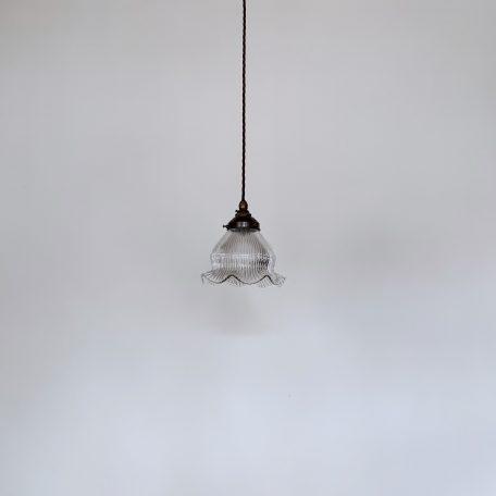 Fluted Holophane Glass Shade