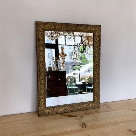Large Antique Ornate Gold Frame Mirror