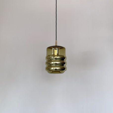 Mid-Century Pultzer Yellow Glass Shade