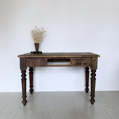 Restored Solid Wood Side Table